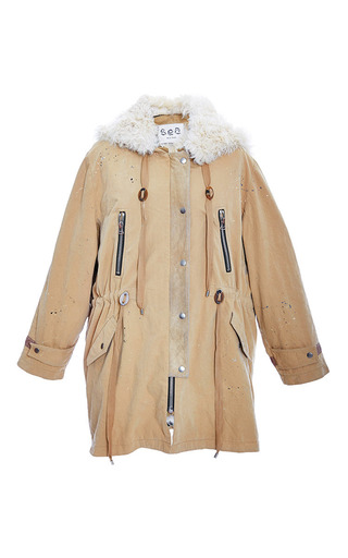 Sea Chino Parka With Shearling Lining by SEA Now Available on Moda Operandi