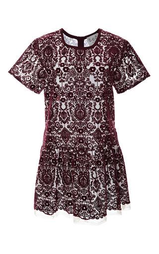 Flocked Lace Dropped Waist Dress by SEA Now Available on Moda Operandi