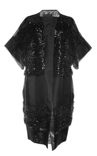 Embellished sheer duster coat by ANTONIO BERARDI Available Now on Moda Operandi