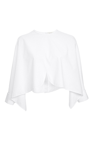 Cotton poplin blouse by DELPOZO Available Now on Moda Operandi