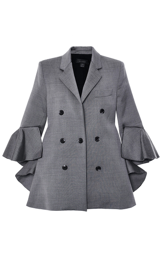 Wool Blend Bromley Blazer With Ruffled Sleeves by ELLERY Now Available on Moda Operandi
