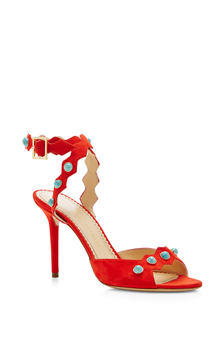 Santa fe suede embellished sandals by CHARLOTTE OLYMPIA Available Now on Moda Operandi