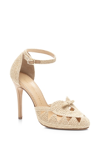 Harvest raffia high-heel sandals by CHARLOTTE OLYMPIA Available Now on Moda Operandi