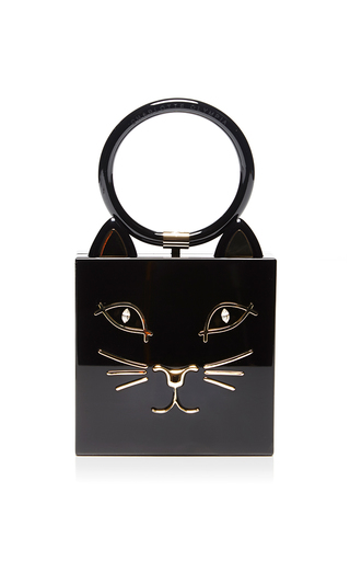 Kitty clutch with swarovski crystals by CHARLOTTE OLYMPIA Available Now on Moda Operandi