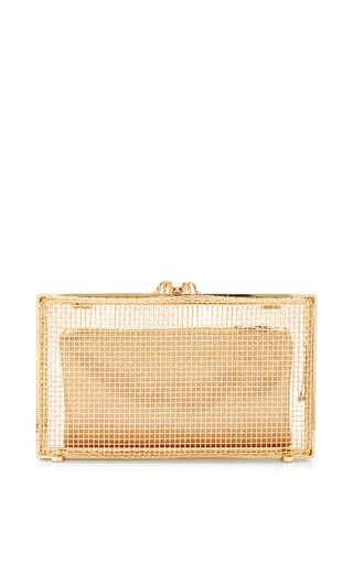 Anette metal mesh clutch by CHARLOTTE OLYMPIA Available Now on Moda Operandi