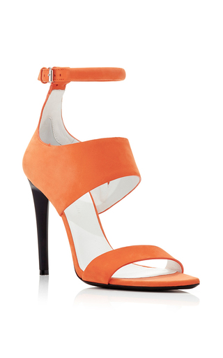 Orange calf leather sandals by PROENZA SCHOULER Available Now on Moda Operandi