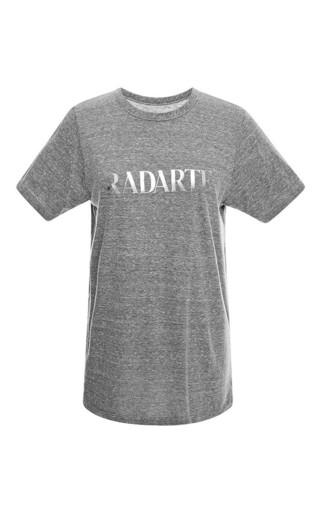 Radarte grey t-shirt with metallic foil by RODARTE Now Available on Moda Operandi
