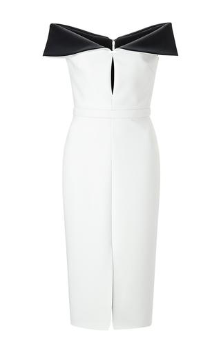 Black and white neoprene sheath dress by CUSHNIE ET OCHS Available Now on Moda Operandi