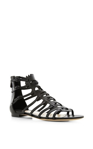 Agia flat gladiator sandals by PAUL ANDREW Available Now on Moda Operandi