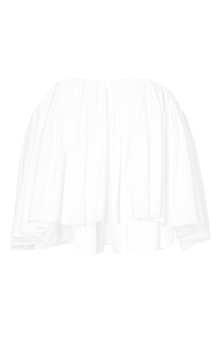 White deconstructed ruffle crop top by ELLERY Available Now on Moda Operandi
