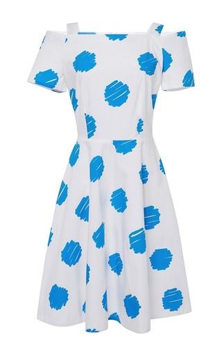 Romilda polka dot off the shoulder dress by VIVETTA Available Now on Moda Operandi