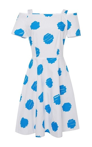 Romilda polka dot off the shoulder dress by VIVETTA Now Available on Moda Operandi