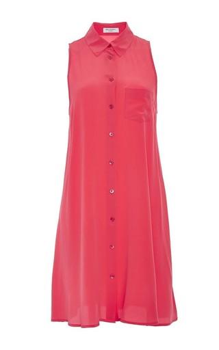 Mina pink sleeveless dress by EQUIPMENT Available Now on Moda Operandi