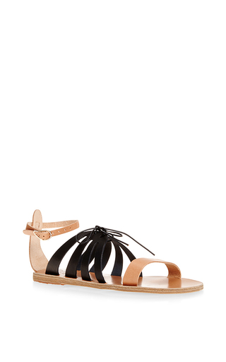 Iphigenia bi-color leather sandals by ANCIENT GREEK SANDALS Available Now on Moda Operandi