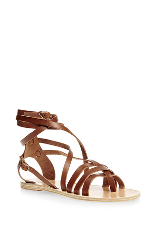 Satira leather wrap sandals by ANCIENT GREEK SANDALS Now Available on Moda Operandi