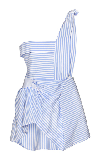 Striped gathered one-shoulder top by J.W. ANDERSON Available Now on Moda Operandi
