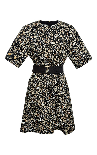 Belted floral short sleeve dress by MARC JACOBS Now Available on Moda Operandi