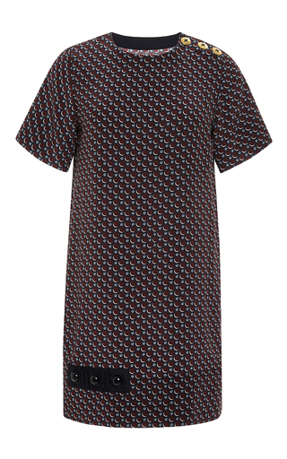 Silk printed mini shift dress by MARC JACOBS Now Available on Moda Operandi