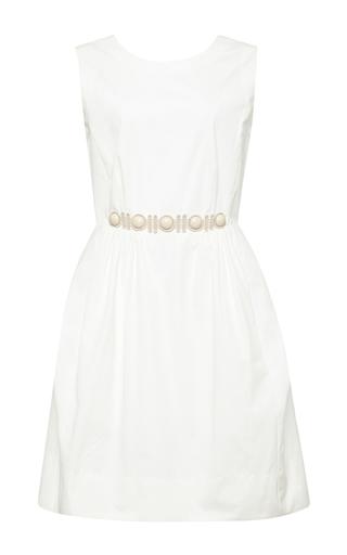 Cabuchon-detail sleeveless white dress by MARC JACOBS Now Available on Moda Operandi