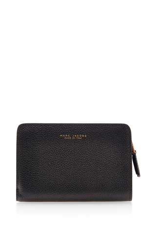 Incognito black leather compact wallet by MARC JACOBS Available Now on Moda Operandi