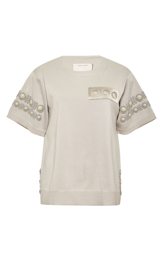 Cabuchon-detail short sleeve t-shirt by MARC JACOBS Now Available on Moda Operandi