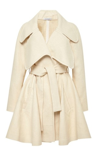 Linen coat with oversized lapels by J.W. ANDERSON Available Now on Moda Operandi