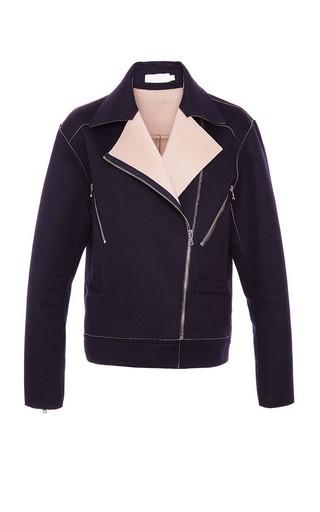 Doubleface Wool Moto Jacket by KAELEN Now Available on Moda Operandi