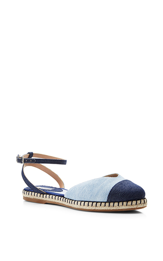 Denim espadrille sandals by TABITHA SIMMONS Now Available on Moda Operandi