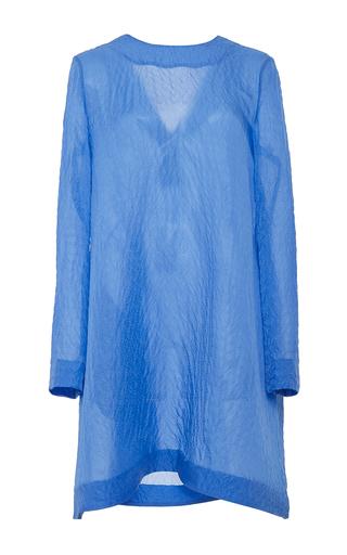 M'o exclusive: presley silk long sleeve mini dress by EMILIA WICKSTEAD Available Now on Moda Operandi