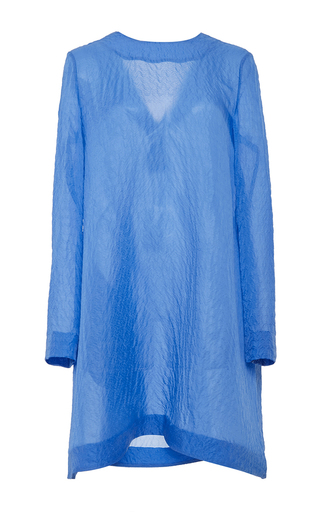 M'o exclusive: presley silk long sleeve mini dress by EMILIA WICKSTEAD Available Now on Moda Operandi