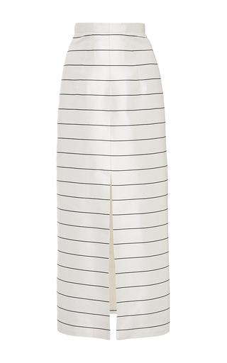Striped silk pencil skirt by EMILIA WICKSTEAD Now Available on Moda Operandi