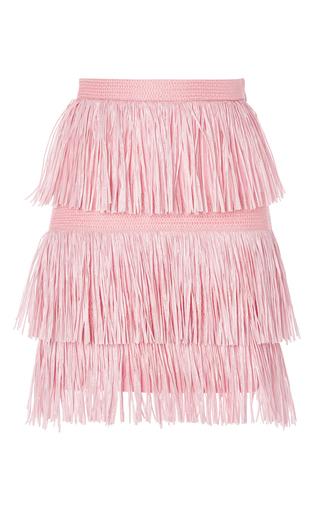 Pink fringe mini skirt by MSGM Available Now on Moda Operandi