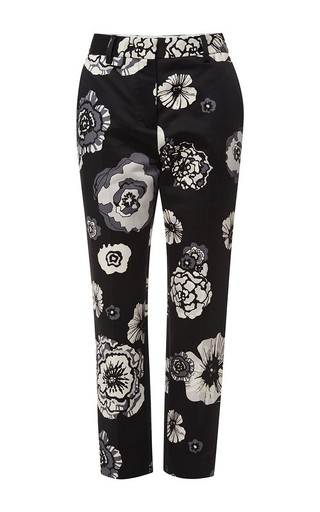 Floral silk pants by MSGM Now Available on Moda Operandi
