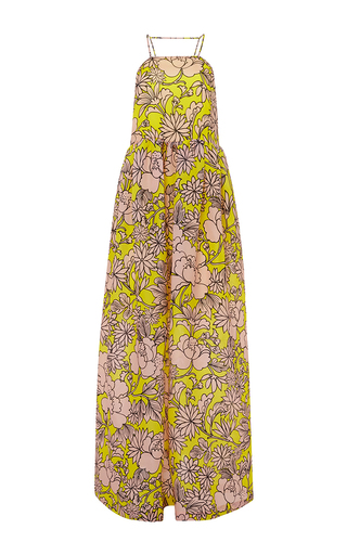Floral silk maxi dress by MSGM Available Now on Moda Operandi