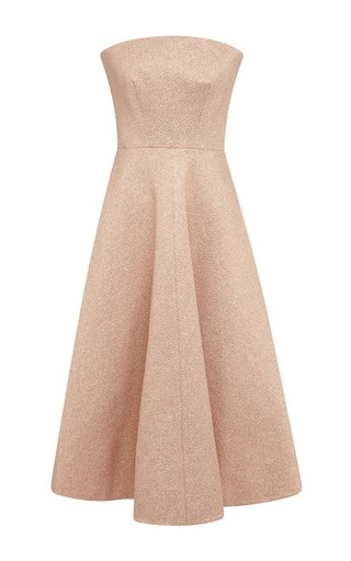 Strapless pale pink dress by ROCHAS Available Now on Moda Operandi