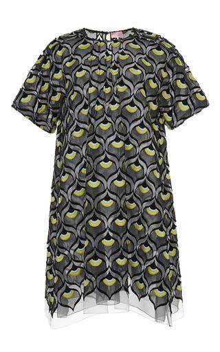 Embroidered macrame collar dress by GIAMBA Available Now on Moda Operandi