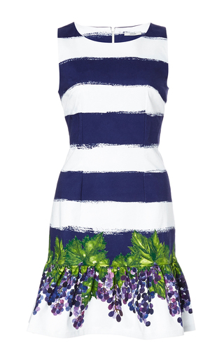 Striped cotton frilled dress by ISOLDA Available Now on Moda Operandi