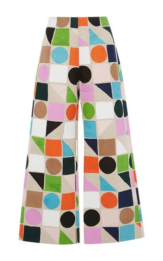Geometric print cropped pants by ISA ARFEN Available Now on Moda Operandi