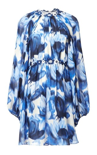 Floral long sleeve mini dress by GIAMBATTISTA VALLI Available Now on Moda Operandi