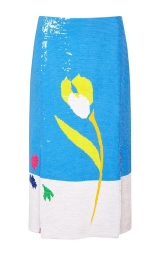Printed pencil skirt by THOM BROWNE Available Now on Moda Operandi