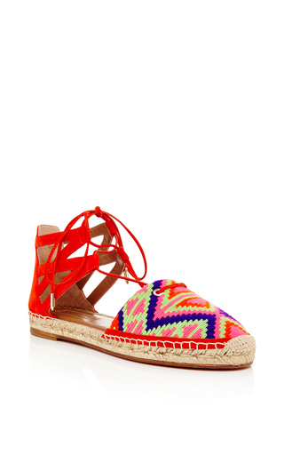 Purple suede belgravia espadrilles by AQUAZZURA Now Available on Moda Operandi