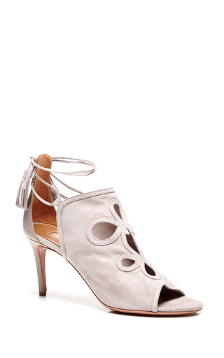 Get me everywhere cut-out sandals in taupe by AQUAZZURA Available Now on Moda Operandi