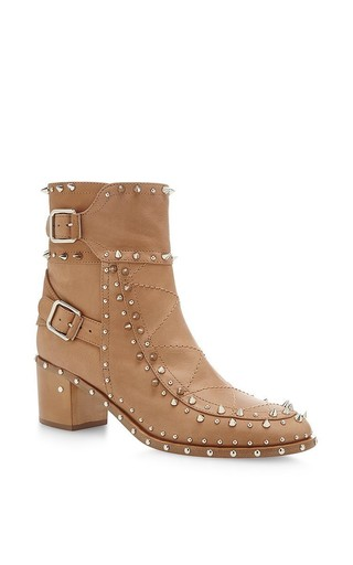 Badley Leather Studded Ankle Boots With Buckles by LAURENCE DACADE Now Available on Moda Operandi