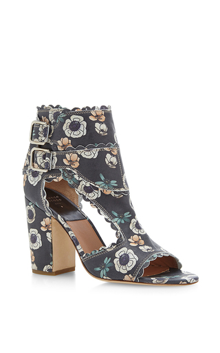 Rush festone printed leather sandals by LAURENCE DACADE Now Available on Moda Operandi