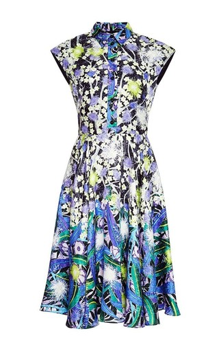 Silk floral shirt dress by PETER PILOTTO Available Now on Moda Operandi