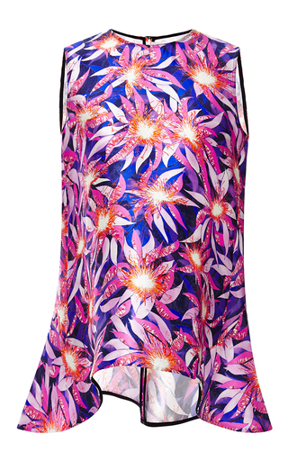 Dandelion printed sleeveless top by PETER PILOTTO Available Now on Moda Operandi