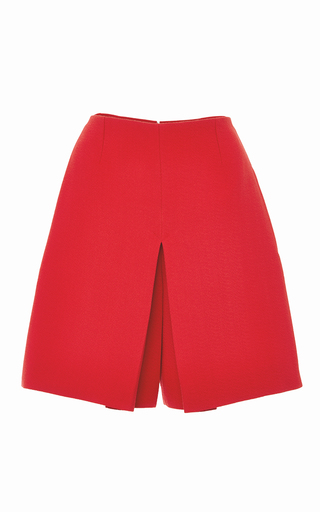 Red mini skirt shorts by CARVEN Available Now on Moda Operandi