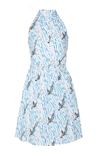 High neck surf print dress by CARVEN Available Now on Moda Operandi