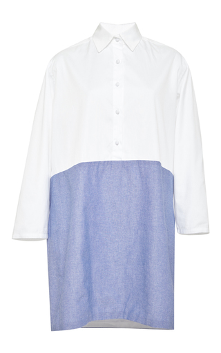 Contrast longsleeve tunic dress by HARVEY FAIRCLOTH Available Now on Moda Operandi