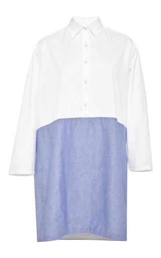 Contrast longsleeve tunic dress by HARVEY FAIRCLOTH Now Available on Moda Operandi